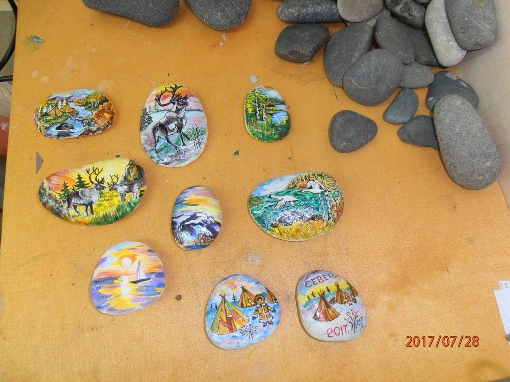 Расписанные камни